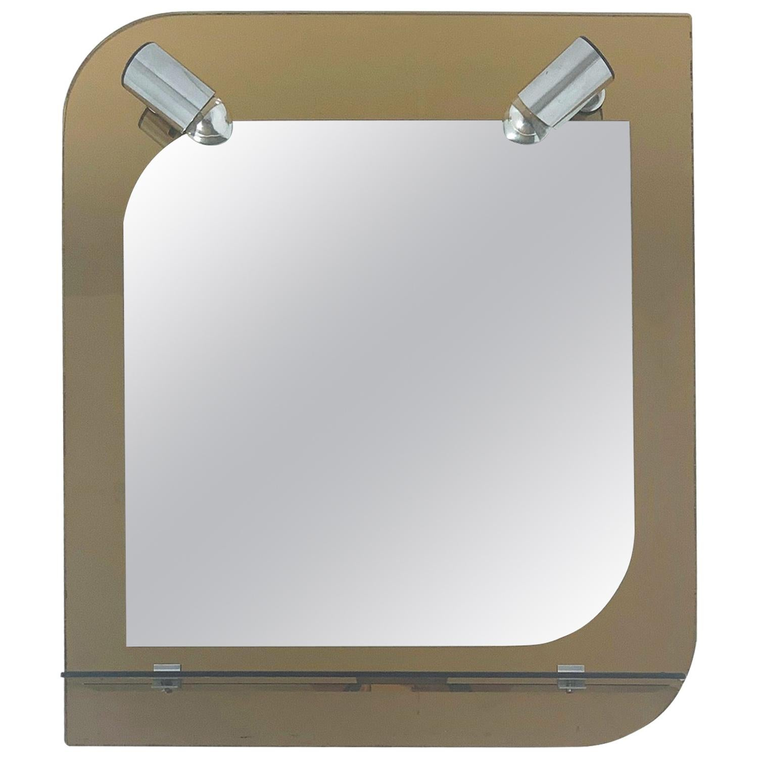 Beveled Mirror with Lights by Veca