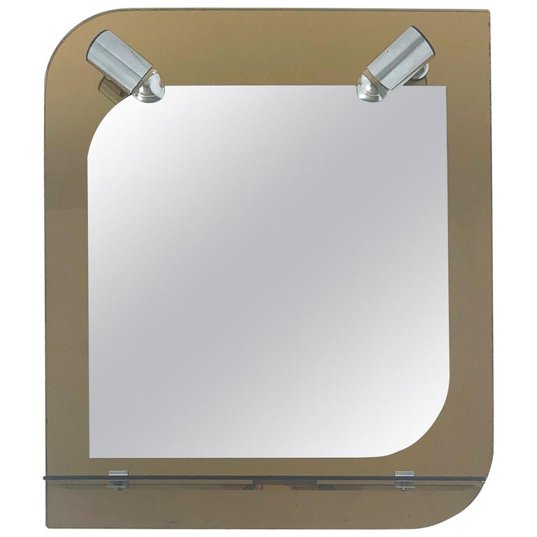 Beveled Mirror with Lights by Veca For Sale