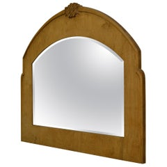 Beveled Veneered Over-Mantle or Wall Mirror