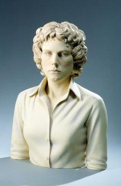 """""""Contemporary Woman"""", Figurative, Ceramic, Sculpture, Glaze, Acrylic Paint"""