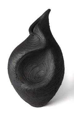 Wild Woman, Modern Day Relic - black stoneware decorative vase