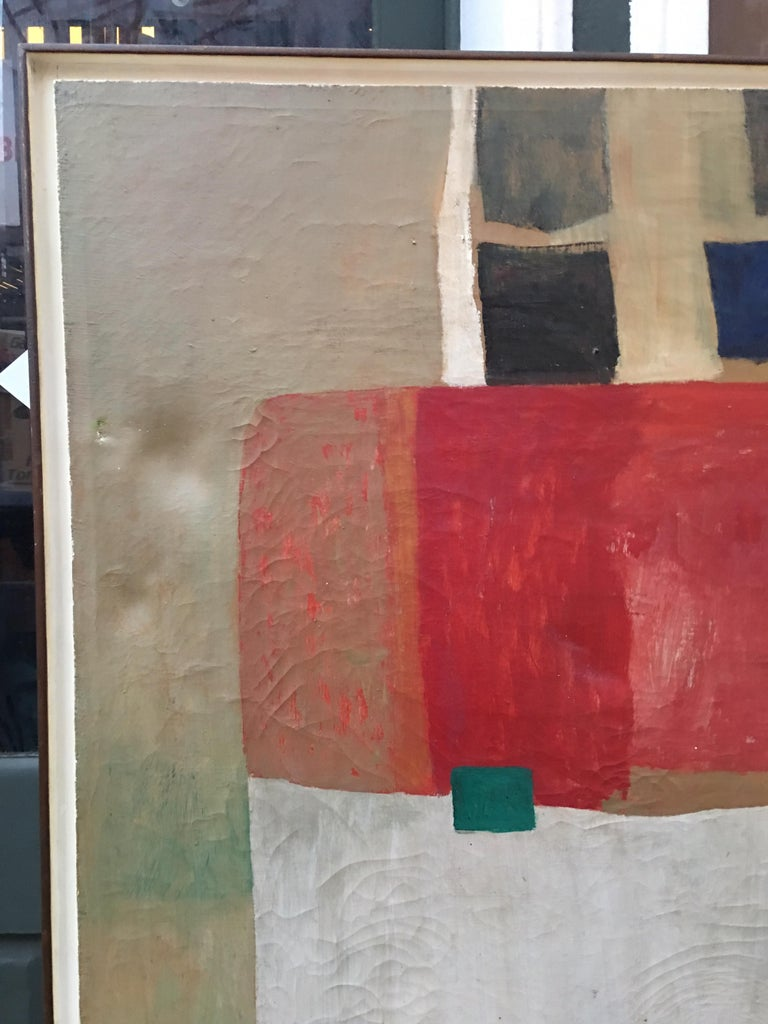 Mid-Century Modern Beverly Snodgrass Oil on Canvas, 1964 For Sale