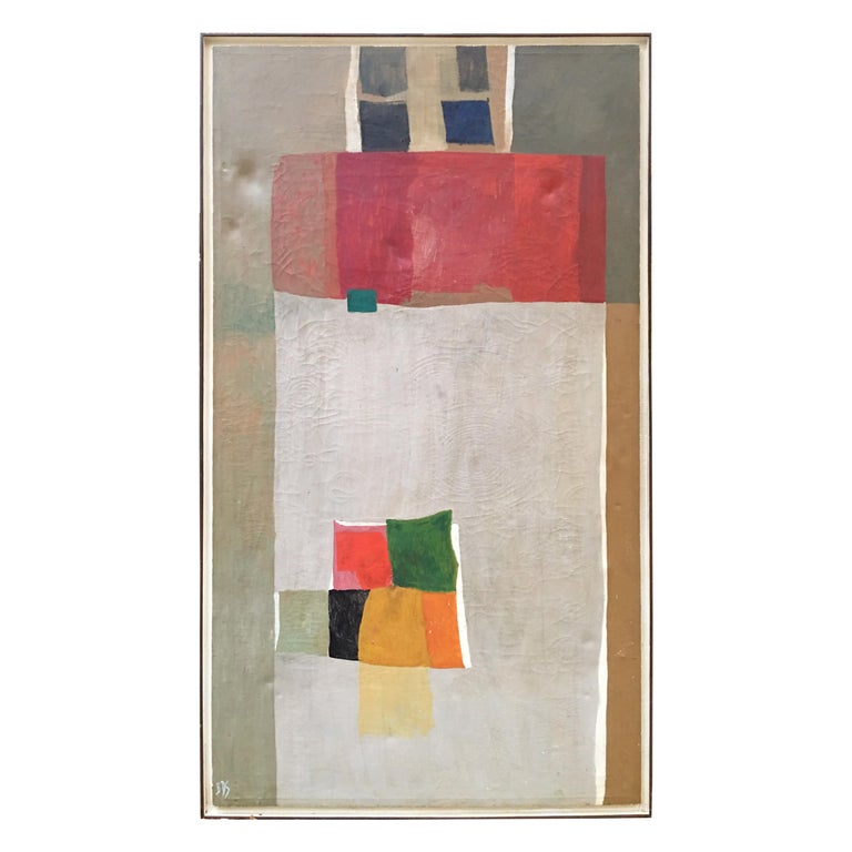 Beverly Snodgrass Oil on Canvas, 1964 For Sale