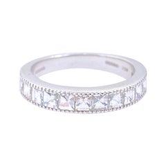 Bez Ambar Blaze Cut Diamond Designer Band 1.00 Carat H VVS 18 Karat White Gold