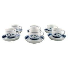 B&G, Bing & Grondahl, Corinth Coffee Cup with Saucer, Set of 6