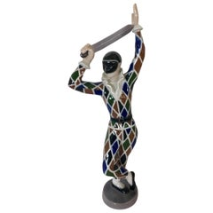 B&G Porcelain Made in Denmark Copenhagen Joker Figurine Harlequin Circus Series
