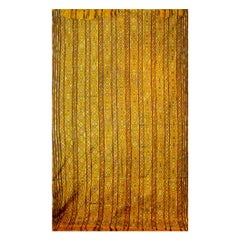 Bhutanese Silk Woven Kira Textile, Multicolor on Yellow