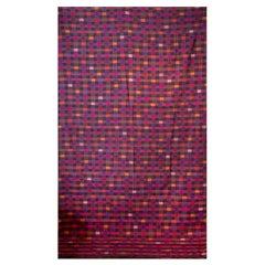 Bhutanese Silk Woven Kira Textile, Purple