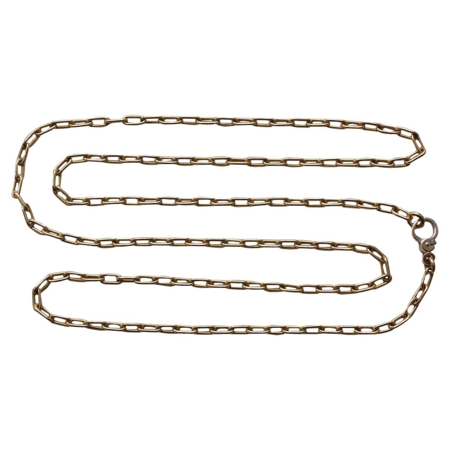 Bi-Color 18 Carat Gold Pomellato Paperclip Chain