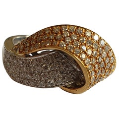 Bi-Color Gold Ring with Diamonds