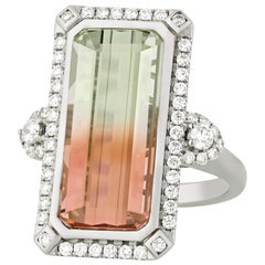 Bi-Color Tourmaline Ring, 11.27 Carat