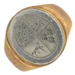 Bi-Colour Signet Ring