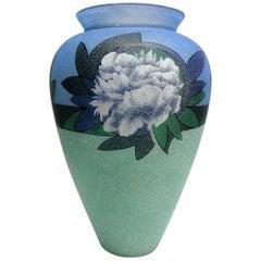 Biancalani Elio Glass Grit Vase from Florence, Italy