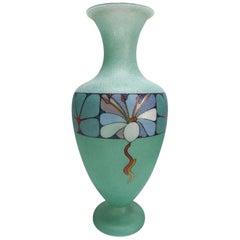 Biancalani Elio Graniglia Art Glass Vase from Florence, Italy