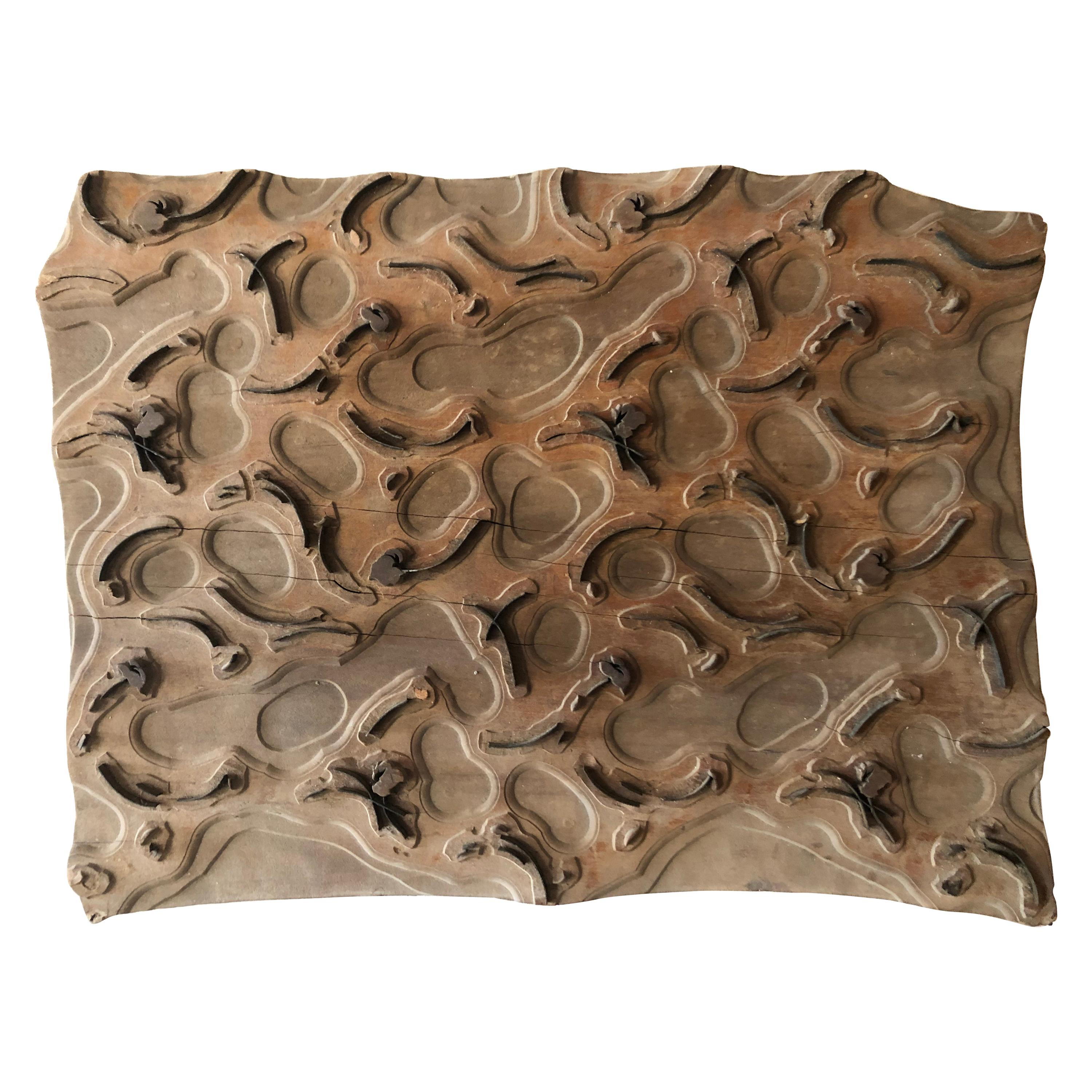 Bianchini Ferier French Fabric House Hand Carved Wood Block