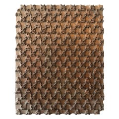 Bianchini Ferier French Hand Carved Fabric Wood Block Wall Art
