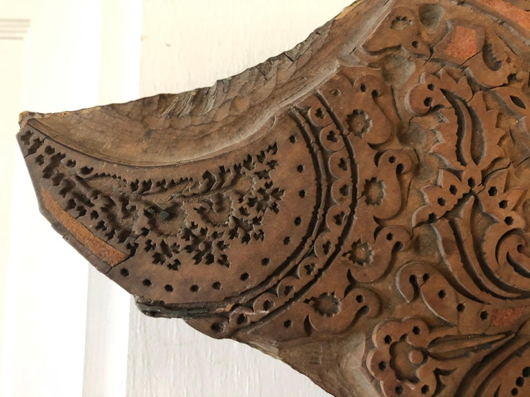 Bianchini Frerier French Fabric House Hand Carved Wood Block In Good Condition For Sale In Westport, CT
