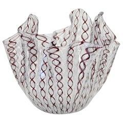 Bianconi Venini Murano Italian Art Glass Fazzoletto Handkerchief Vase
