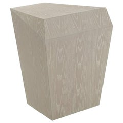 Bias Side Table, Faceted Ashen Oak, Contemporary Accent