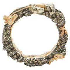 Bibi van der Velden Animal Eternity Ring with Diamonds
