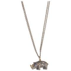 Bibi van der Velden Rhino Brown Diamond Necklace in 18K Gold and Sterling Silver
