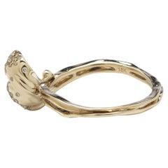 Bibi van der Velden Wave Stackable Ring with Diamonds 'the Large One'