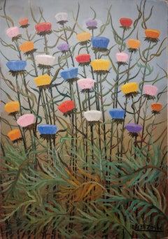 Chardons, by 'The flower painter' Bibí Zogbé