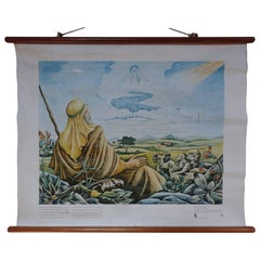 Biblical 1950 School Poster, Go Forth Out of Thy Country ' Gen. 12:1