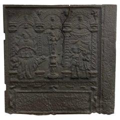Biblical Antique Fireback or Backsplash