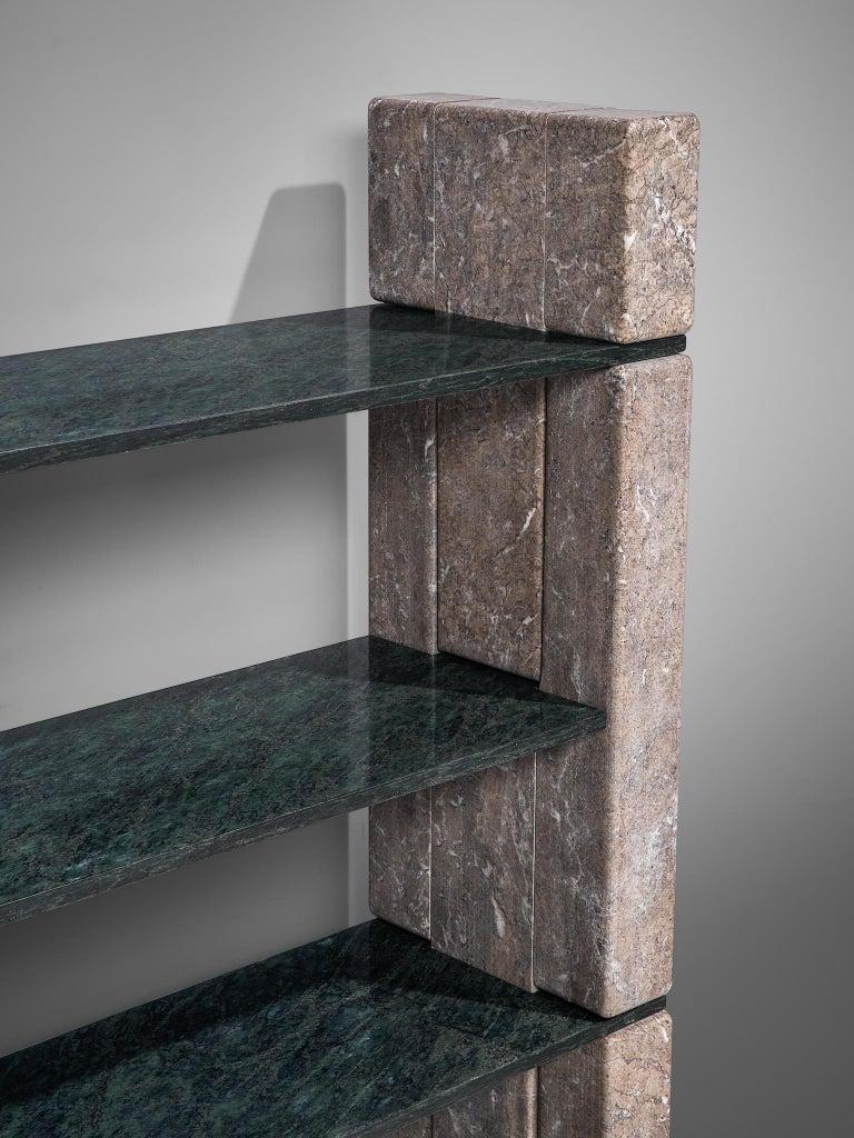 Italian 'Biblos' Bookcase in Marble by Renato Polidori