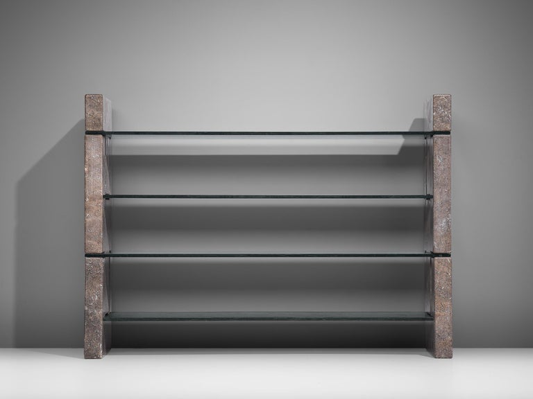'Biblos' Bookcase in Marble by Renato Polidori In Good Condition In Waalwijk, NL