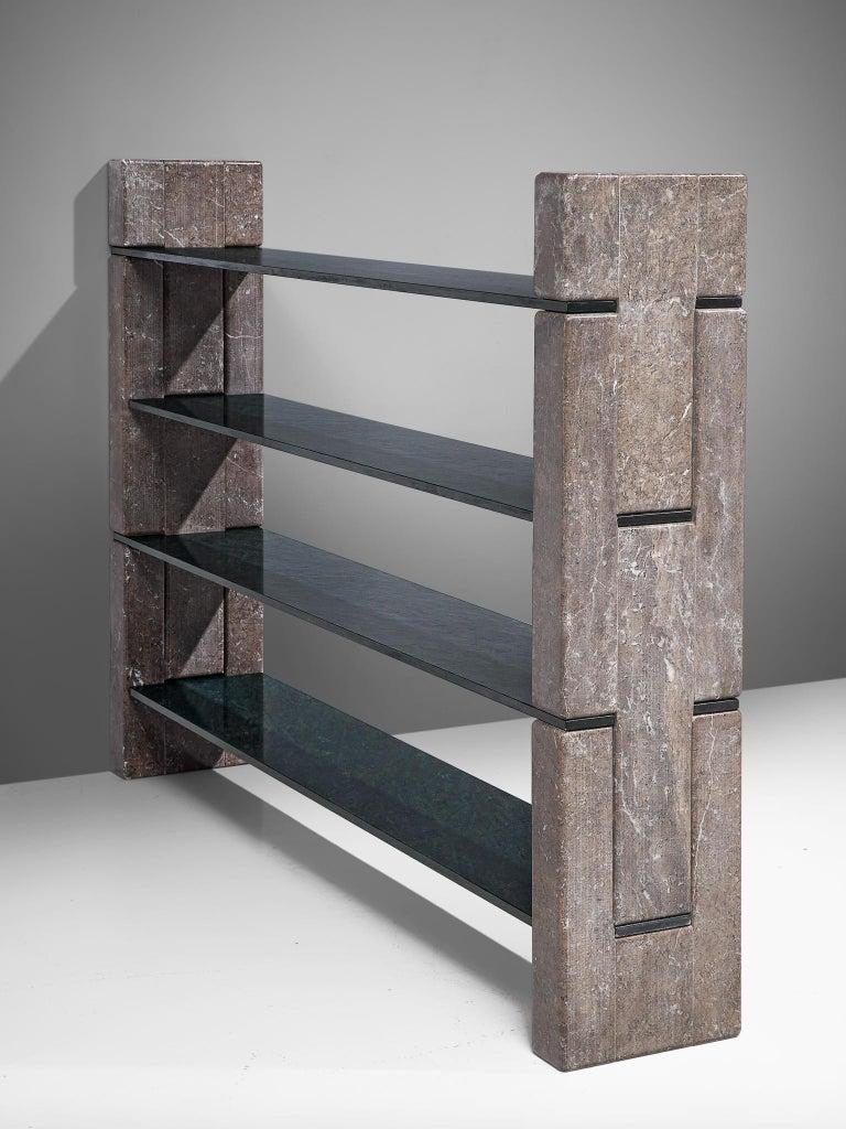 'Biblos' Bookcase in Marble by Renato Polidori 1