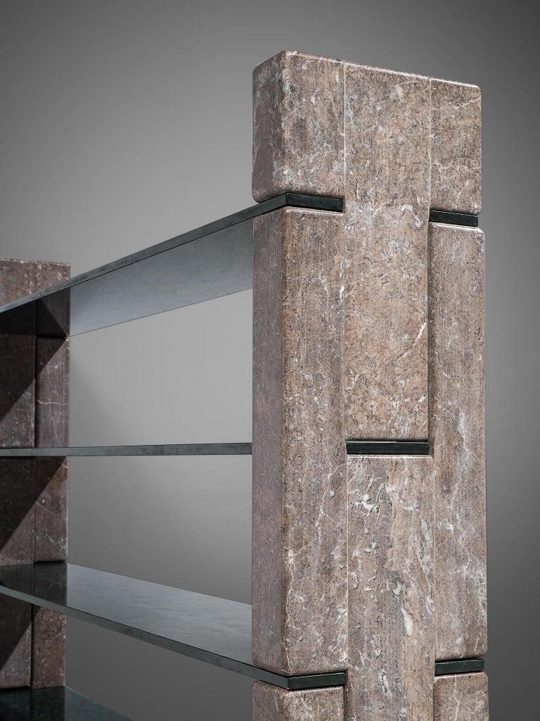 'Biblos' Bookcase in Marble by Renato Polidori 2