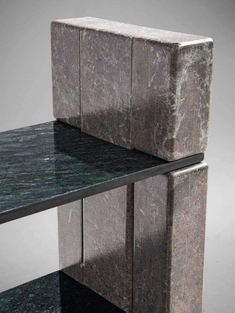 'Biblos' Bookcase in Marble by Renato Polidori 3