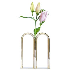 Bicaudata Contemporary Handmade Brass Flower Vase by Ilaria Bianchi