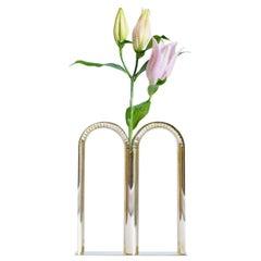 Bicaudata Contemporary Handmade Brass Flower Vase by Ilaria Bianchi