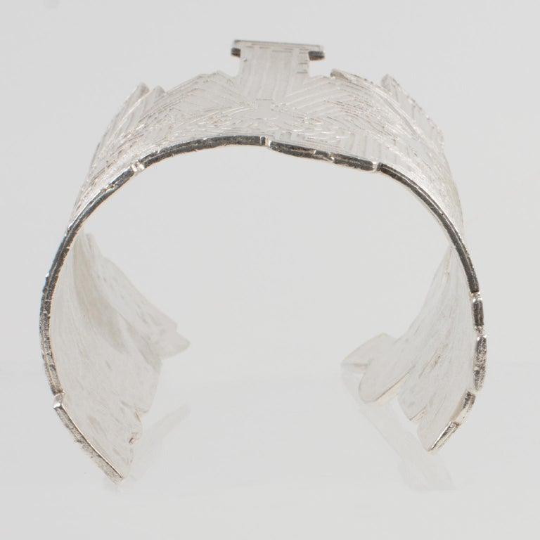 Biche de Bere Paris Limited Edition Silver Plate Graffitis Cuff Bracelet For Sale 4