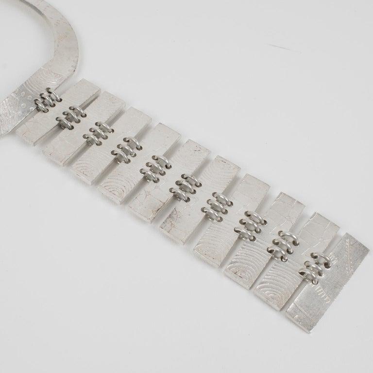 Biche de Bere Paris Limited Edition Silver Plate Graffitis Plastron Necklace For Sale 1