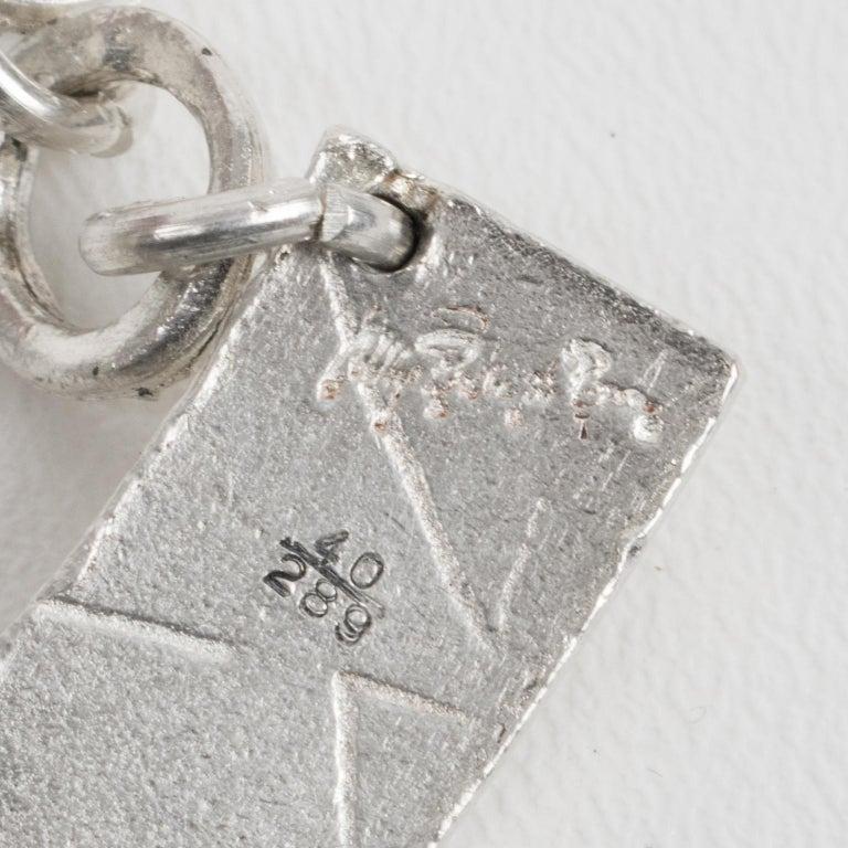 Biche de Bere Paris Limited Edition Silver Plate Graffitis Plastron Necklace For Sale 4
