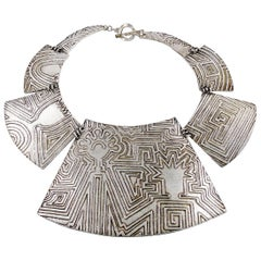 Biche de Bere Vintage Massive Limited Edition Circuit Couple Plastron Necklace