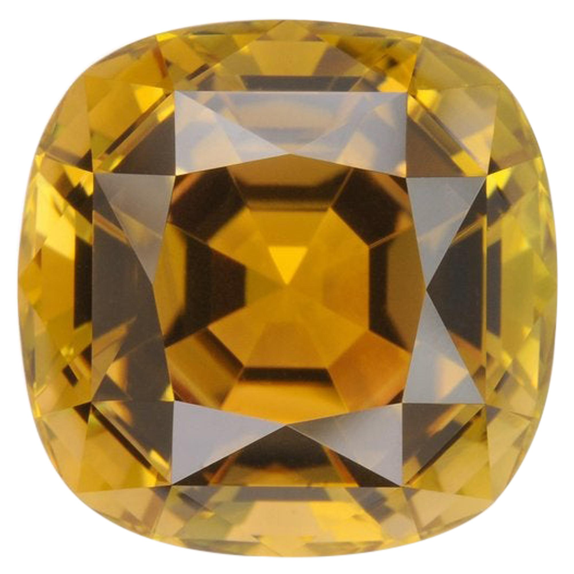 Bicolor Tourmaline Ring Gem 11.39 Carat Unset Square Cushion Loose Gemstone