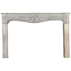 Bicolor French Vintage Fireplace Surround in Limestone