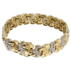 Bicolor Gold Bracelet with Diamonds
