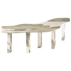 Bicolor Sculptural Marble Table, Lorenzo Bini