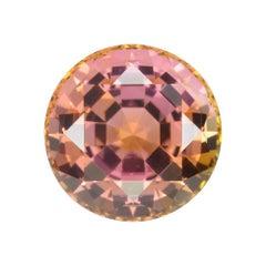 Bicolor Tourmaline Ring Gem 14.28 Carat Round Loose Unset Gemstone