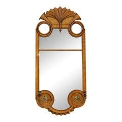 Bidermeire Style Wall Mirror in Tiger Maple