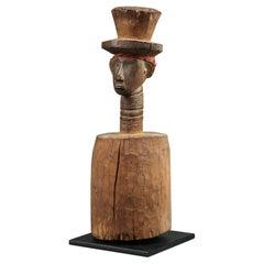 Bidjogo Tribal Altar Sculpture with Head, Guinea-Bissau, Africa