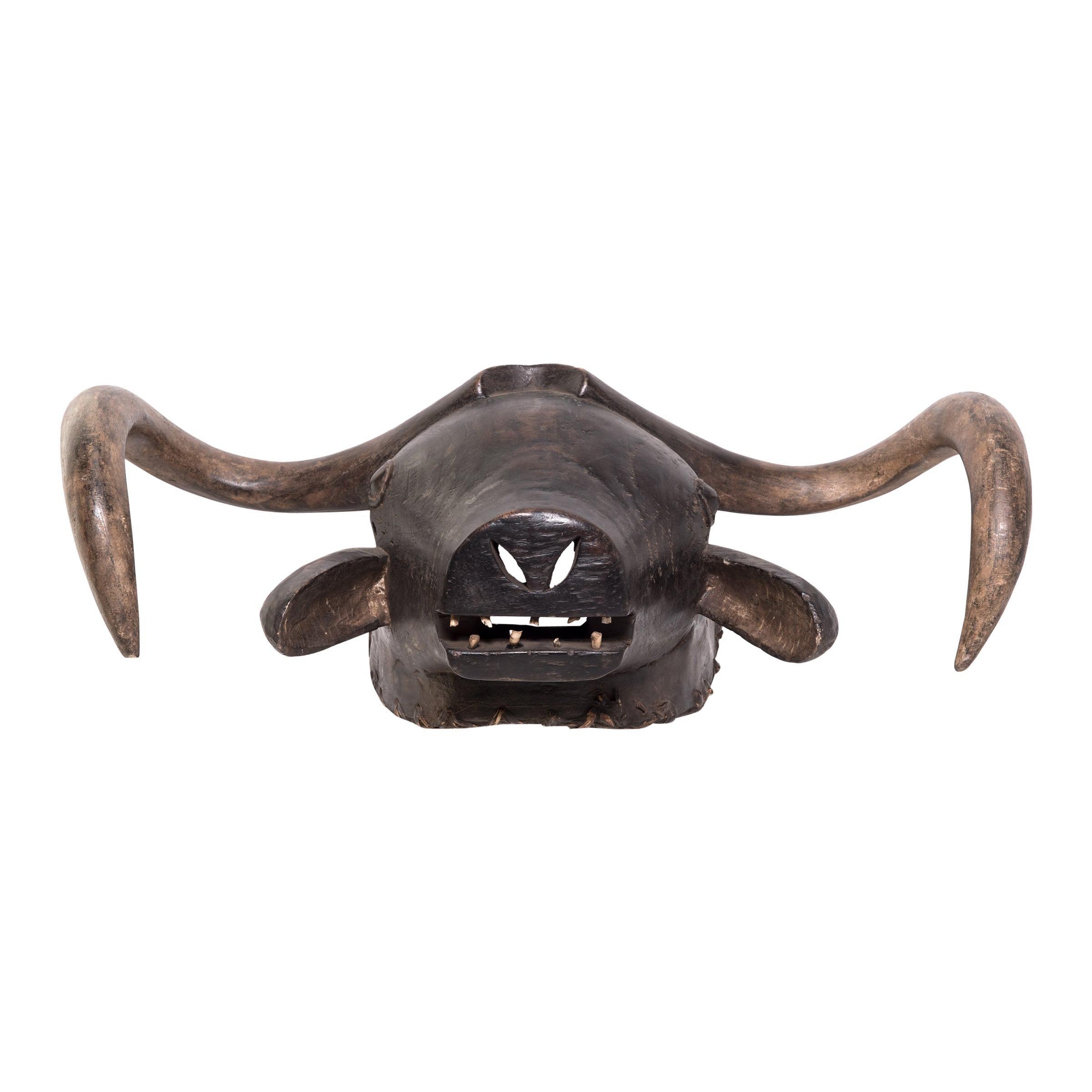 Bidjogo Tribal Initiation Ox Mask