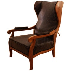 Biedermeier Wing Chair, Adjustable, Walnut, South Germany, circa 1820