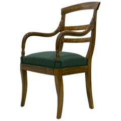 Biedermeier Armchair in Walnut Wood, Germany, circa 1830